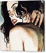 A Glance Canvas Print