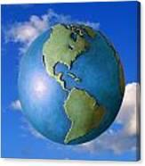 A Globe In The Sky Canvas Print