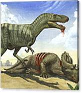 A Gorgosaurus Libratus Stands Canvas Print