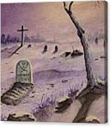 A  Grave Yard Canvas Print