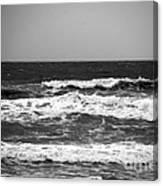 A Gray November Day At The Beach - II  Canvas Print