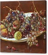 A Greek Summer Plate Canvas Print
