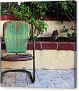 A Green Chair Canvas Print