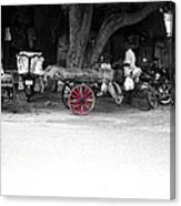 A Hawker On The Street Canvas Print