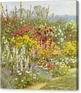 A Herbaceous Border Canvas Print