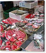 A Hong Kong Fishmonger Shop Canvas Print