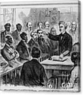 A Jury Of Whites And Blacks Canvas Print