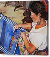 A Lady Canvas Print