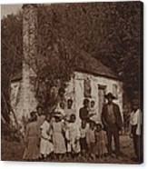A Large African Americans Family Posed Canvas Print