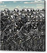 A Large Gathering Of Robots Canvas Print