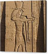 A Large Relief Of The God Horus Canvas Print