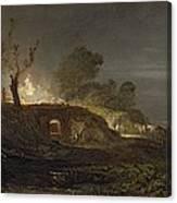 A Lime Kiln At Coalbrookdale Canvas Print