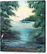 A Lone Egret Canvas Print