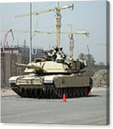 A M1 Abram Sits Out Front Of The New Canvas Print