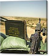 A M240b Medium Machine Gun Canvas Print