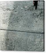 A Man Walked Visible From Above Canvas Print