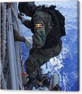 A Marine From The Uganda People's Canvas Print