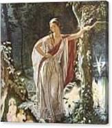A Midsummer Night's Dream Hermia And The Fairies Canvas Print