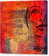 A Mind Cries Canvas Print