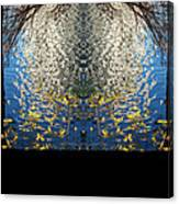 A Mirror Image Of Sparkling Water Reflection Canvas Print