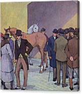 A Morning At Tattersall's Canvas Print