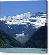 A Mountain Range With A Lake In The Canvas Print