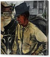 A Mule And A Plow. Resettlement Canvas Print