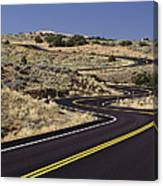 A Newly Paved Winding Road Up A Slight Canvas Print