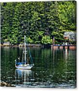 A Nice Day For A Sail Canvas Print
