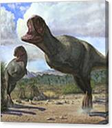 A Pair Of Pycnonemosaurus Nevesi Canvas Print