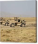 A Pair Of U.s. Army Cougar Mrap Canvas Print