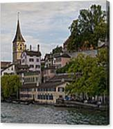A Panorama View Of Zurich Canvas Print