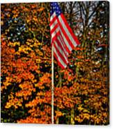 A Patriotic Autumn Canvas Print