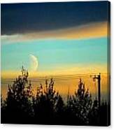 A Peek At The Moon Canvas Print