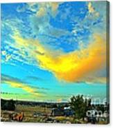 a piece of Heaven from backyard Canvas Print