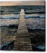 A Pier In The Water Canvas Print
