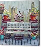A Porch In Alaska Canvas Print