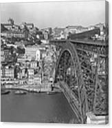A Portion Of Porto And Its Large Canvas Print