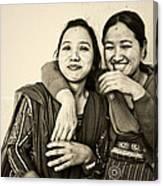 A Portrait Of Good Friends Canvas Print