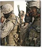 A Radio Operator Helps A Platoon Canvas Print