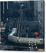 A Railway Encircles Thirty-five Blocks Canvas Print