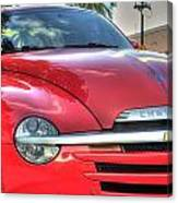 A Red Chevy Canvas Print