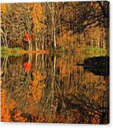 A Reflection Of October Canvas Print