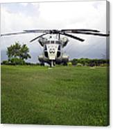 A Rh-53d Sea Stallion Helicopter Canvas Print