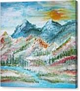 A River Runs Through  Canvas Print