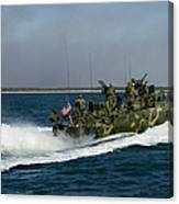 A Riverine Command Boat During Exercise Canvas Print