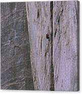 A Rock Climber Clings To An Overhang Canvas Print