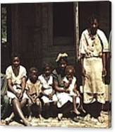 A Rural African American Family Seated Canvas Print