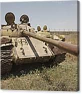 A Russian T-55 Main Battle Tank Canvas Print