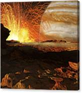 A Scene On Jupiters Moon, Io, The Most Canvas Print